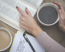 bible study with coffee