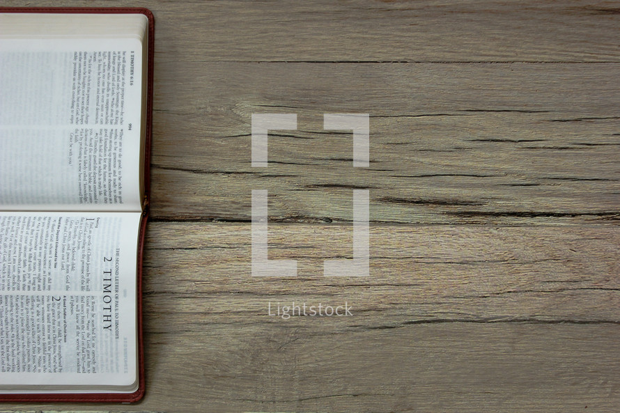 A Bible opened to 2 Timothy