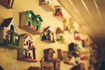 cuckoo clocks on a wall