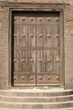wooden door in Egypt