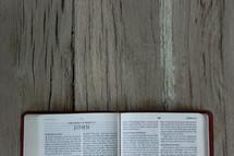 A Bible opened to John