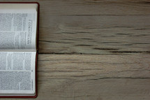 A Bible opened to 2 Corinthians