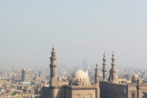 towers and dome of a mosque in Egypt