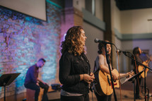 worship leaders leading a congregation in song