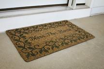 Bless this home door mat