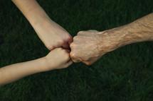 family fist bump