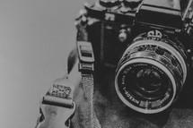 vintage nikon camera closeup