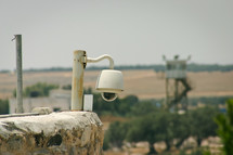 security camera and watchtower