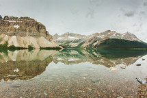 shallow water in a mountain lake