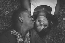 portrait of an African American couple in love