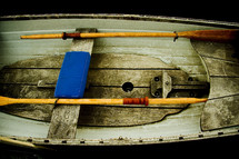 inside of a row boat