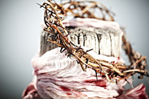 A thorn crown and bloody cloth