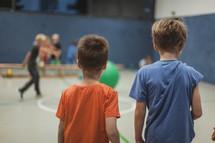 kids in a gymnasium