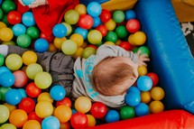 toddler in a Ball pit
