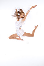 Dancing girl in midair