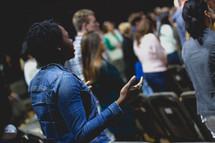 worshipers at a worship service