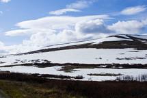 fresh mountain snow