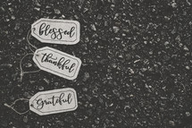 blessed, thankful, grateful