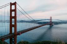 Golden Gate bridge over the San Francisco Bay