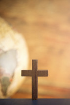 The Cross of Christ and an Antique Globe