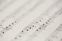 musical notes on sheet music