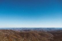 Horizon of hilltops.