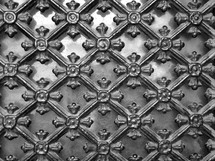 wrought-iron ornamental lattice, 