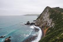 cliffs along a coastline