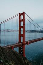 Gold Gate bridge over the San Francisco Bay