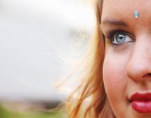 closeup of a face of a woman