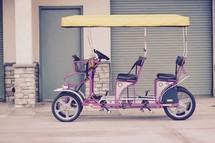 pedal car on a beach boardwalk