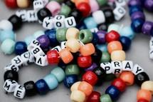 VBS beaded bracelets crafts