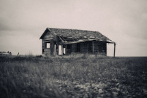 shell of an abandoned house