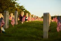 Memorial day tombstones