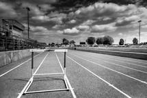 Track in a stadium.