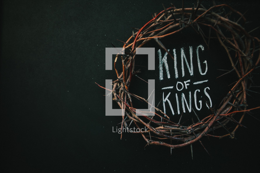 crown of thorns and the words king of kings