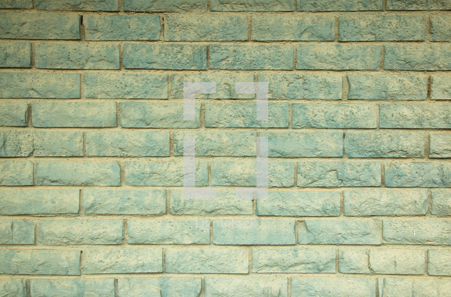 teal brick wall background
