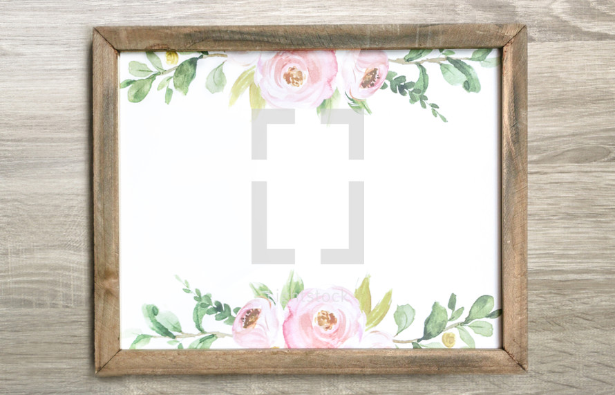 watercolor painting in a frame