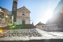 entrance to a mountaintop church