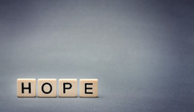 word hope in scrabble pieces