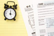 W-9, 1040 tax forms