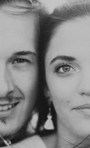 faces of a couple close-up