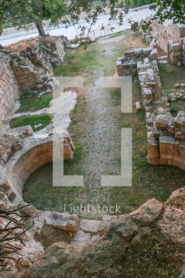 ruins, tell mar Elias, Elijah, Jordan