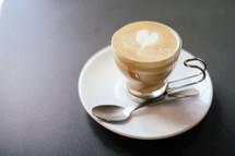 heart shape creamer in a coffee cup