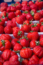 fresh pints of strawberries