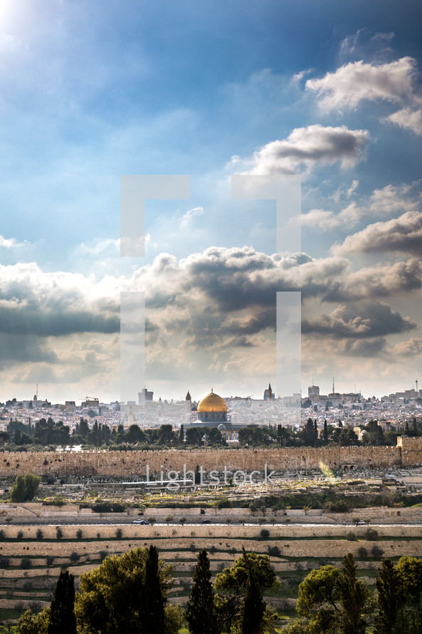 view of modern day Jerusalem
