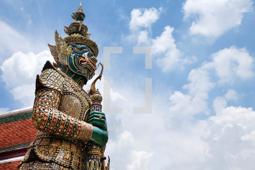 Temple Guardian statue in Thailand