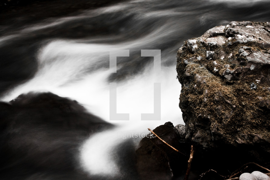 tranquil flowing water in a stream