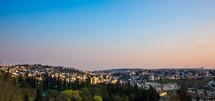 Jerusalem skyline at sunset
