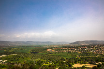 green landscape of the holy land